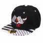 "Mobile Preview: Damen Cap ""Bulls"" Baseball-Cap Schwarz-Weiß"